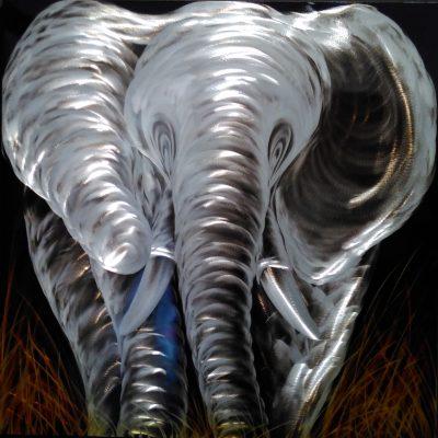 Elephant, aluminum art